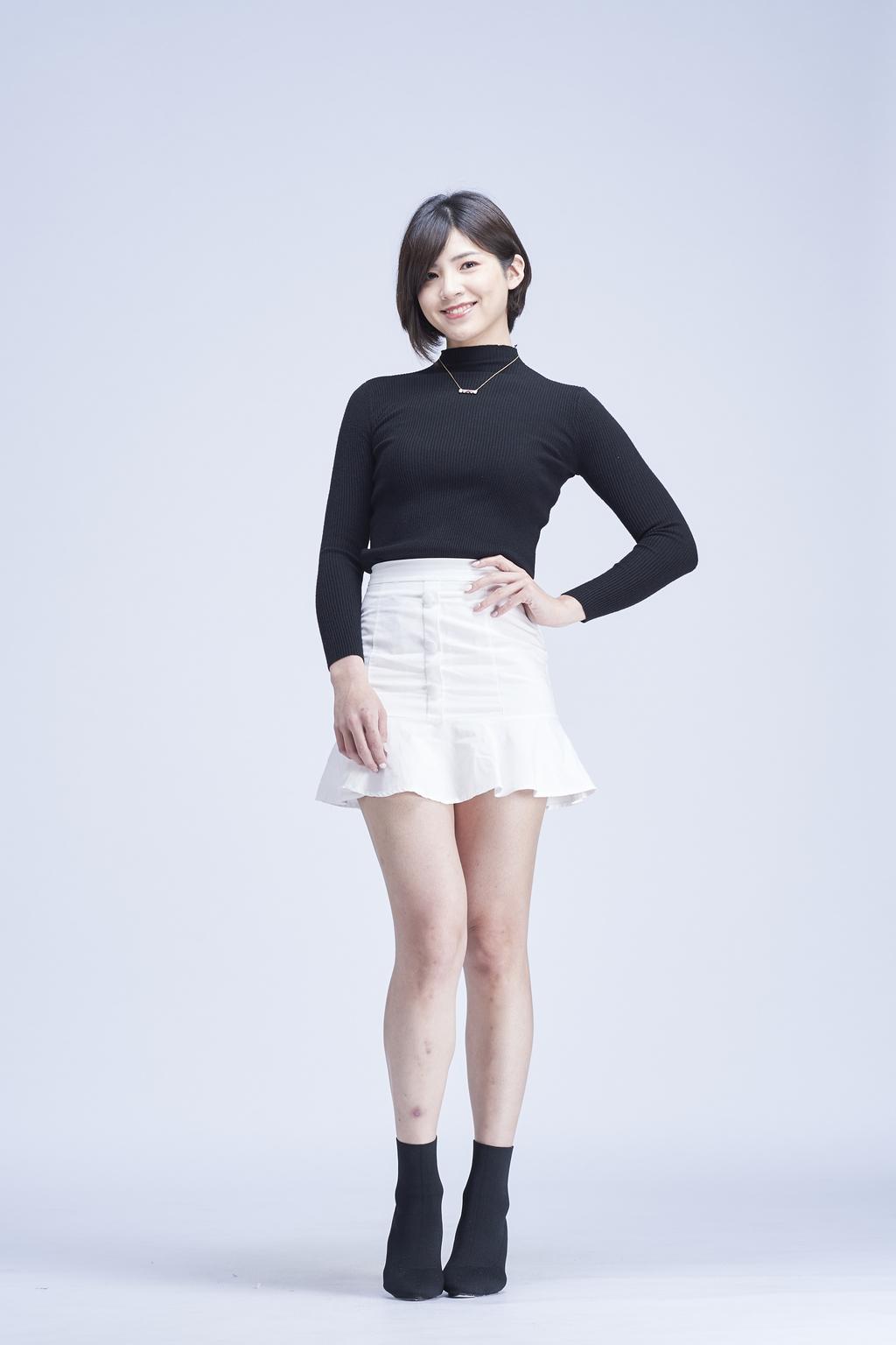 高腰前排釦魚尾短裙